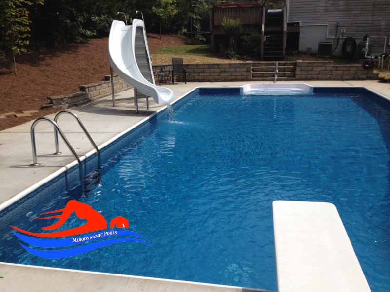 Installing Swimming Pools : Inground pool installation atlanta ga vinyl builder co